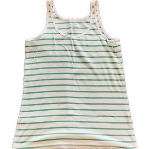 3 for $25   Striped Ribbed Tank (Green)    16W
